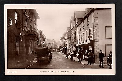 Builth Wells - Broad Street - real photographic postcard