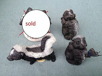 Stone Critters Lot Littles Usa S.s. Skunk Butterfly Float Scl 281 181 21 125