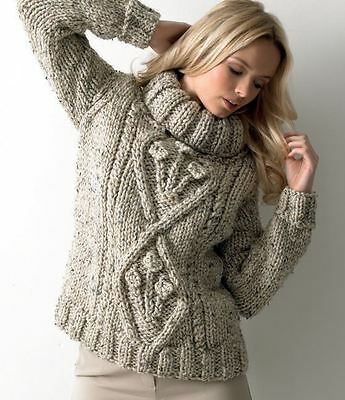 Sweater in James C. Brett Rustic Mega Chunky (JB111)