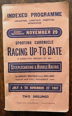 Sporting Chronicle Racing Up To Date indexed Programme Jul-Nov 1947