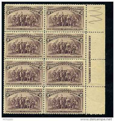 USA 1893 Columbian Exposition Issue block of 8 MNH**