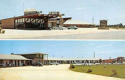 Bennettsville South Carolina Motel And Restaurant Vintage Postcard K49566