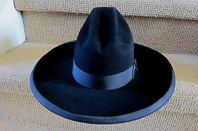 Stetson~ Tom Mix 5X Black Hat ~7 1/4~ New In Box~ Factory Mismarked Size