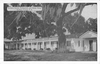 Gardens Corner South Carolina Restaurant Street View Antique Postcard K49621