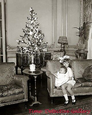 Children Posed with Christmas Tree - 1924 - Historic Photo Print