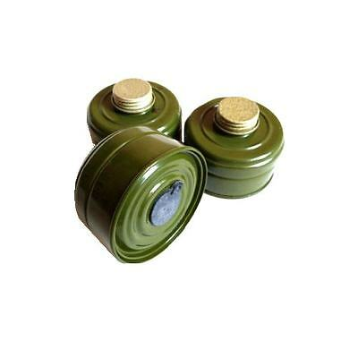 Gas mask filter 40mm Vintage metal Soviet Respirator Filter Collectible ~ 3 Pack