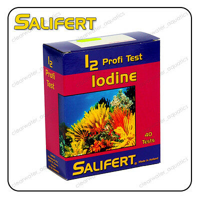 SALIFERT IODINE i2 Profi TEST KIT Marine Reef FISH TANK Water Testing Aquarium