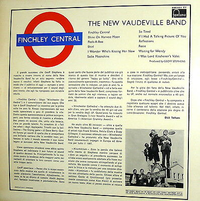 The New Vaudeville Band  Finchley Central  Lp   Italy 1967     I^ Press