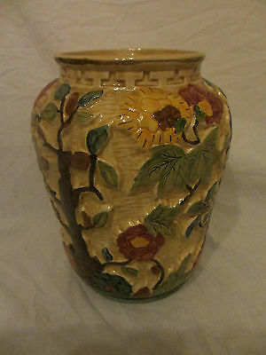 H J Wood Indian Tree Large  Vase Hand Painted Good Condition