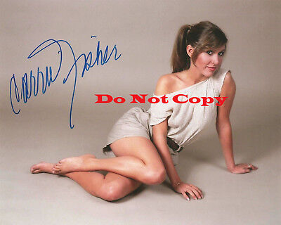 Carrie Fisher as Princess Leia Signed 8x10 autographed photo RP