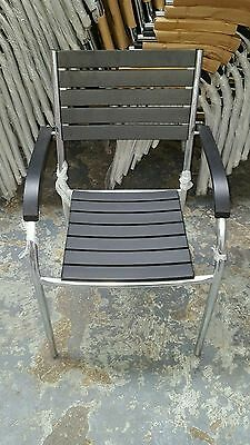 Special Offer LAST FEW Garden Chairs / Patio Chairs SET OF 4 Black & Chorme