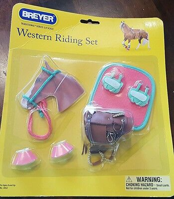 BREYER Toy Horses Western Performance Riding Set  NEW In Package Saddle Set