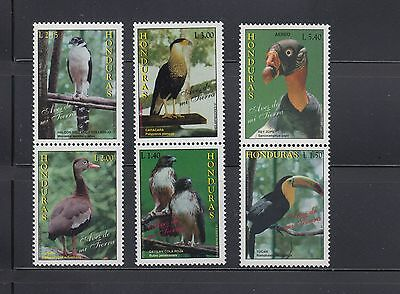 Honduras 1997 Birds Se-tenant pairs Sc 383a-385a  Complete  Mint Never Hinged