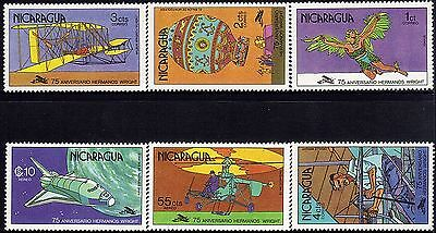 Nicaragua History of Aviation Wright Brothers Sc 1089-1092, C945-C946 MNH 1978