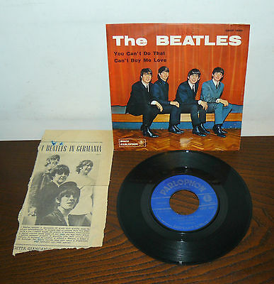"""The Beatles  You Can't  Do That  7"""" Italy  1964 Qmsp 16361  Can't Buy Me Love"""
