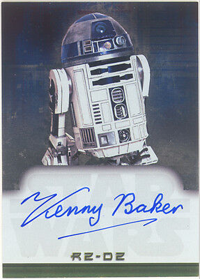 Star Wars EVOLUTION AUTOGRAPH CARD Actor KENNY BAKER as R2-D2 Topps 2001 RARE