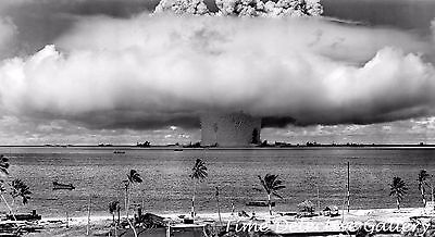 Nuclear Bomb Test, Bikini Atoll - 1946 - Historic Photo Print