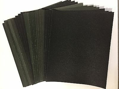 32 x SHEETS SANDPAPER WET AND DRY  SANDING - COARSE MEDIUM FINE EXTRA FINE GRITS