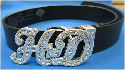 "Harley-Davidson New Ladies ""Bling"" Belt  Size Small 30-1/2"" to 34/1/2"""