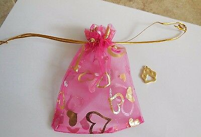 Cat Paw Charm Pink Drawstring Bag Helps Feed  Vet Feral Cats Rescue