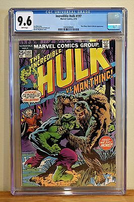 Incredible Hulk #197 Cgc 9.6 - White Pages **bernie Wrightson Cover**