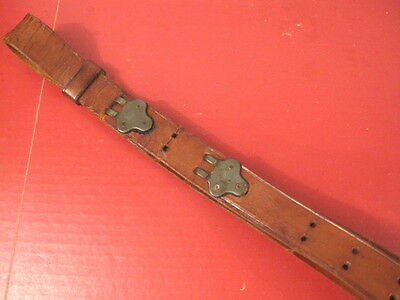WWII US ARMY M1907 Leather Sling M1903 Springfield or M1 Garand Rifle - Unmarked