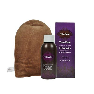 *50% OFF* Fake Bake Self-Tan Flawless Travel Kit, with Mitt & Gloves RRP £15.00!