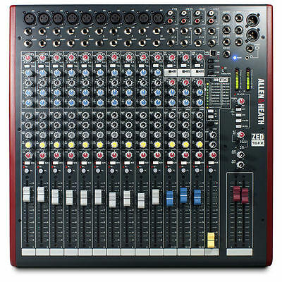 Allen & Heath ZED-16FX - 16 Channel USB Mixing Desk With FX -  New & Sealed