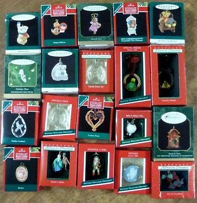 Lot of 20 HALLMARK Keepsake Ornaments in Boxes  New & Used Christmas #1