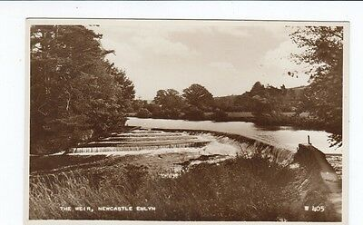 Postcard. The Weir Newcastle Emlyn. Real Photo.