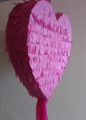 Hot Pink Heart Pinata Love Wedding Engagement Marry Marriage Prom Party UK