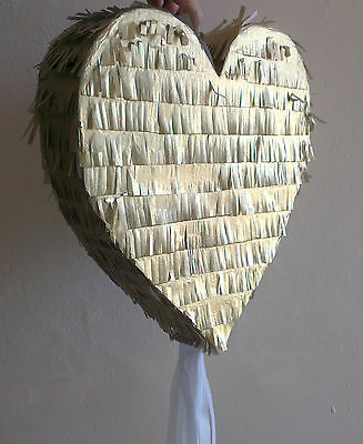 Gold Heart Golden Pinata Love Wedding Engagement Marry Marriage Prom Party UK