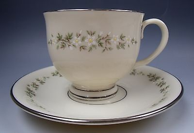 Lenox China BROOKDALE Footed Cup & Saucer Set EXCELLENT