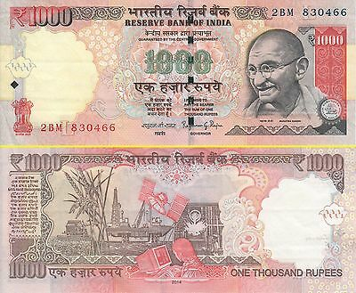 India 1000 Rupees banknote 2014 UNC