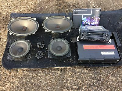 MINI COOPER R50 Complete sound system 6 speaker Tape player CD changer