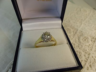 Vintage 18ct Yellow Gold Solitaire Diamond Ring,0.30ct Size J