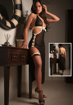 G World Intimates  BlackLingerie set One Size Fits All - D962