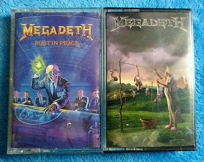 MEGADETH 2 Cassette Tapes Thrash Metal Rust In Peace Youthanasia Metallica