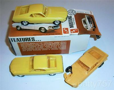 3 Mustang Fastback 2+2 models, vintage AMT 1:43 scale, kit T107, free shipping!