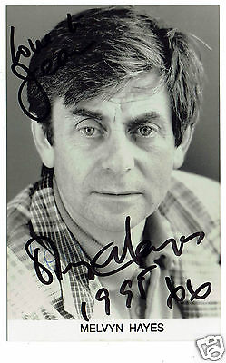 Melvyn Hayes Signed Television and film actor  Hand Signed  Photograph 5 x 3