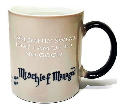 Authentic Harry Potter Mug Heat Sensitive Color Changing Cup Mischief Managed