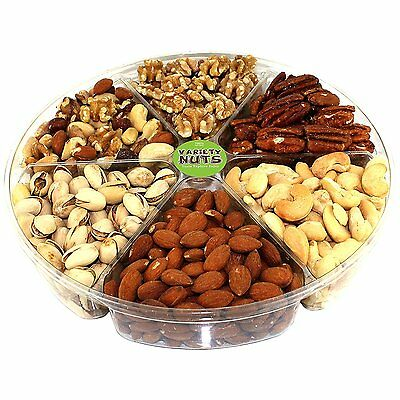 Premium Gourmet Nuts Assorted Gift Basket Large Tray Fresh and Roasted