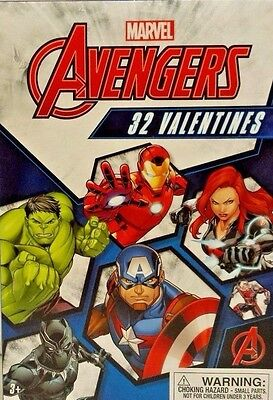 New Valentines Day Cards Box Of 32 Marvel Avengers 8