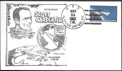 "US Space Cover 1962. Carpenter ""Mercury - Atlas 7"" Recovery. USS Alstede"