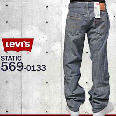48f2605c26f5 Nwt Levis 569 Loose Straight Fit Static Wash 0133 Zip Fly Jeans 29 X 32 #