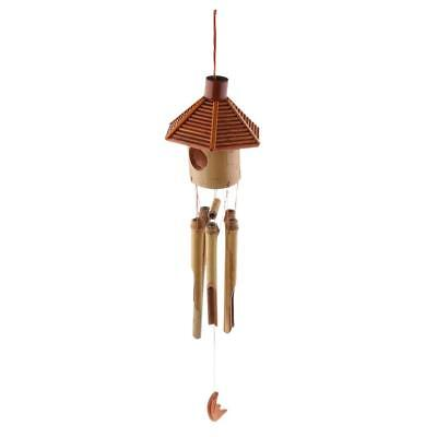 Amazing Deep Relaxing WINDCHIMES Wooden Wind Chime 8 Tubes Chapel Bell Retro