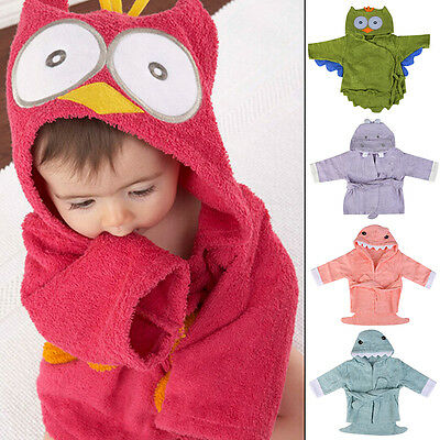 Cartoon Animal Children Bathrobe Baby Towel Bath Robe baby Cotton Bathrobes