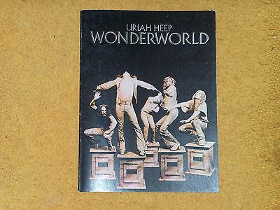 Uriah Heep songbook Wonderworld 1974 48 pages w/ pictures (VG+ shape)