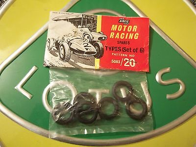 Bagged Airfix Set of 6 Tyres 5053 / 20 Motor Racing Spares MRRC Scalextric Slot