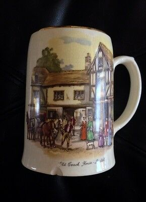 Empire Porcelain Co Staffordshire Tankard Mug Stein Old Coach House Bristol VTG